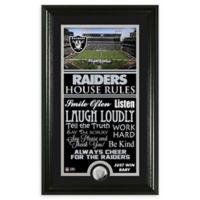NFL Oakland Raiders House Rules Bronze Coin Photo Mint