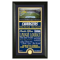 NFL Los Angeles Chargers House Rules Bronze Coin Photo Mint