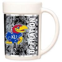 University of Kansas Operation Hat Trick™ Coffee Mug in White