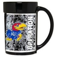 University of Kansas Operation Hat Trick™ Coffee Mug in Black