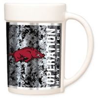 University of Arkansas Operation Hat Trick™ Coffee Mug in White