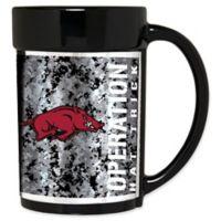 University of Arkansas Operation Hat Trick™ 15 oz. Coffee Mug in Black