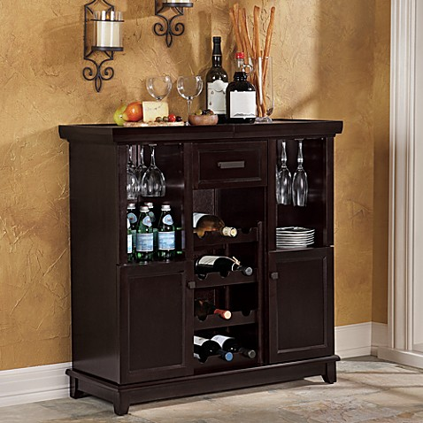 Tuscan Expandable Wine Bar In Espresso Bed Bath Beyond