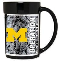 University of Michigan Operation Hat Trick 15 oz. Wraparound Ceramic Mug in Black