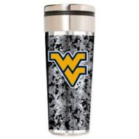 West Virginia University Operation Hat Trick 22 oz. Vacuum-Insulated Travel Tumbler in Silver