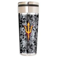 Arizona State University Operation Hat Trick 22 oz. Vacuum-Insulated Travel Tumbler in Silver