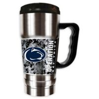 Penn State University Operation Hat Trick 20 oz. Double-Wall CHAMP Travel Mug in Silver