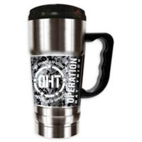 Operation Hat Trick 20 oz. Double-Wall CHAMP Travel Mug in Silver