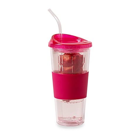 Rove 20-Ounce Double Wall Deluxe Tumbler with Infuser Lid in Pink