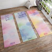 Watercolor Personalized Yoga Mat