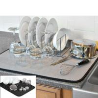 The Original™ XL Dual Dish Drying Mat in Black