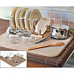 The Original™ XL Dual Dish Drying Mat in Tan