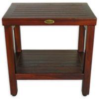 EcoDecors® Eleganto 18-Inch Teak Shower Bench in Brown