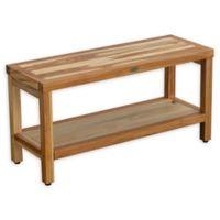 EcoDecors® Eleganto 35-Inch Teak Shower Bench in Natural