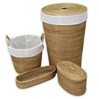 Baum-Essex Key West 4-Piece Hamper and Basket Set in Natural