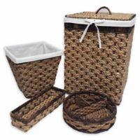 Baum-Essex Peconic Bay 4-Piece Hamper and Basket Set in Natural/Espresso
