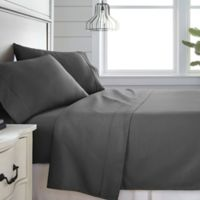 Home Collection 300-Thread-Count Deep-Pocket Full Sheet Set in Grey