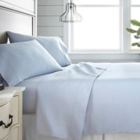 Home Collection 300-Thread-Count Deep-Pocket Queen Sheet Set in Light Blue
