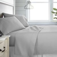 Home Collection 300-Thread-Count Deep-Pocket California King Sheet Set in Light Grey