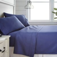 Home Collection 300-Thread-Count Deep-Pocket Queen Sheet Set in Navy