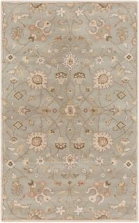 Surya Caesar Vintage Ivy 4' x 6' Area Rug in Grey/Wheat