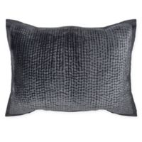 Wamsutta® Collection Velvet Hand Quilted King Pillow Sham in Charcoal