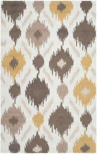 Surya Brentwood 3'6 x 5'6 Area Rug in Yellow/Brown