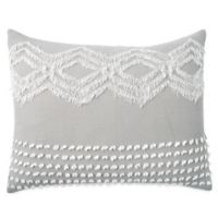 Peri Home Cut Geo King Pillow Sham in Grey
