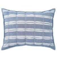 Peri Home Puckered Stripe King Pillow Sham in Blue