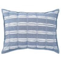 Peri Home Puckered Stripe King Pillow Sham in Blue