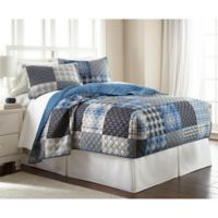 Micro Flannel® Queen Plaid Fitted Quilt Set