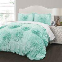 Lush Decor Serena 2-Piece Full/Queen Comforter Set in Aqua