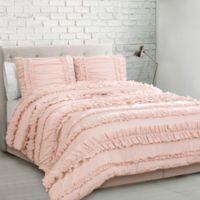 Lush Décor Belle 3-Piece Twin XL Comforter Set in Blush