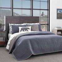 Eddie Bauer® Hidden Lake Twin Quilt Set in Blue