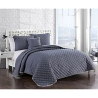 Avalon Full/Queen Quilt Set in Grey