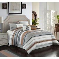 Pollux 7-Piece Queen Comforter Set in Ivory