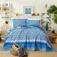 Justina Blakeney by Makers Collective Himaya Reversible King Quilt Set in Blue