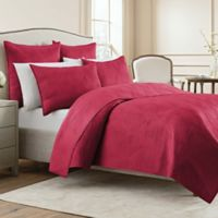Wamsutta® Bliss King Coverlet in Ruby