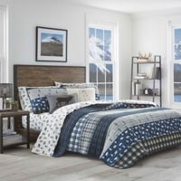 Eddie Bauer® Blue Creek Plaid King Quilt Set in Navy