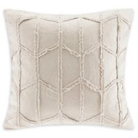 Harbor House™ Frayed Geo Linen 20-Inch Square Throw Pillow in Linen