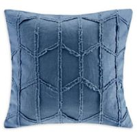 Harbor House™ Frayed Geo Linen 20-Inch Square Throw Pillow in Navy