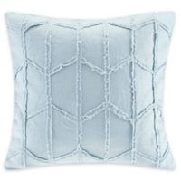 Harbor House™ Frayed Geo Linen 20-Inch Square Throw Pillow in Blue