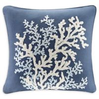 Harbor House™ Rift Coral Linen Square Throw Pillow in Navy