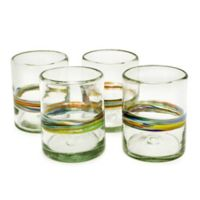 Bambeco Rainbow Glass Tumbler (Set of 4)