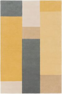 Surya Lina Modern 5' x 7'6 Area Rug in Wheat/Charcoal
