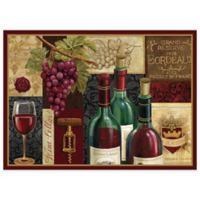 Wine Cellar Laminated Placemats in Burdundy (Set of 4)