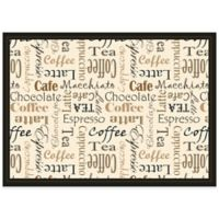 Coffee Club Laminated Placemats in Taupe (Set of 4)