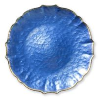 Viva Glass Charger Plate in Cobalt