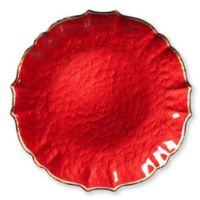 Viva Glass Charger Plate in Red