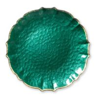 Viva Glass Charger Plate in Emerald